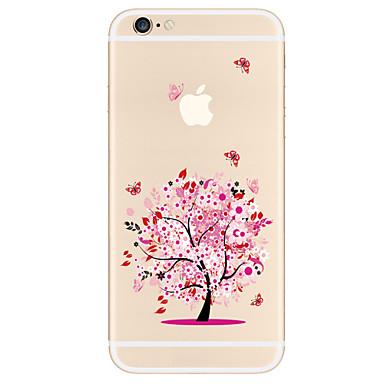 Funda Para Apple iPhone X iPhone 8 Plus Funda iPhone 5 iPhone 6 iPhone 7 Diseños Funda Trasera Árbol Suave TPU para iPhone X iPhone 8