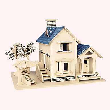 Wooden Puzzle Famous buildings Chinese Architecture House Professional Level Wooden 1pcs Kid's Boys' Gift