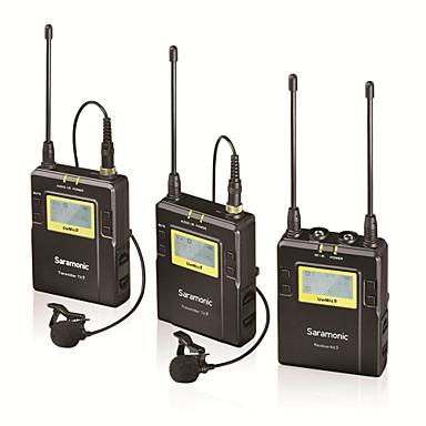 96 ערוצים saramonic מערכת מיקרופון lavalier אלחוטי UHF 2 משדרים 1 כונס וידאו מצלמת DSLR