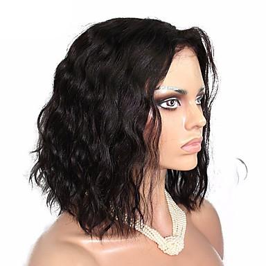 Ekte hår Blonde Forside Parykk 360 Frontal / Løse bølger 180% tetthet Naturlig hårlinje / Afroamerikansk parykk / 100 % håndknyttet