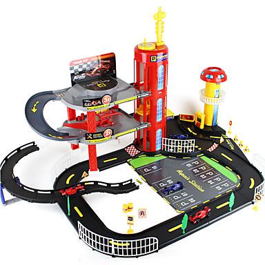 Schienen-Auto Parkhausspielzeugsets F1-Auto Spielzeuge Neuartige Auto Abs Metal Kreativ Stücke Jungen Weihnachten Geburtstag Kindertag