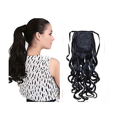 New Fashion Long Wavy Synthetic Drawstring Ponytail Clip Curly Hair Extension
