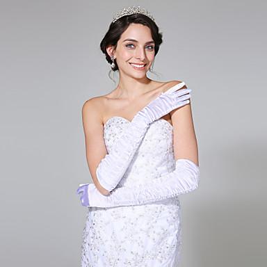 Satin Opernlänge Handschuh Brauthandschuhe