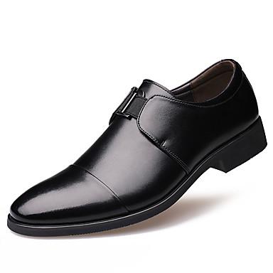 Herre sko Lær Vår / Høst Komfort / Trendy støvler Oxfords Svart / Brun / Fest / aften / Formell Sko / Lærsko