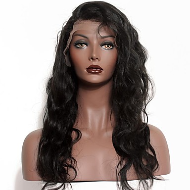 Human Hair Lace Front Wig Deep Wave 120% Density 100% Hand Tied African American Wig Natural Hairline Medium Long Women's Human Hair Lace