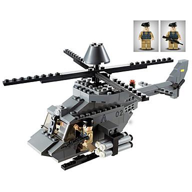 GUDI Byggeklosser 179pcs Tank / Luftkraft / Helikopter profesjonelt nivå / Kul Helikopter Gutt Gave