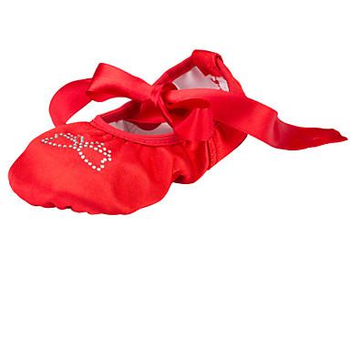 Zapatillas de Ballet Tejido Plano Pedrería Tacón Plano No Personalizables Zapatos de baile Rojo / Interior