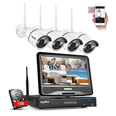 Qualità Al 100% Sannce® 2.4g 10.1 Lcd 4ch Hd 720p Wireless Nvr 1500tvl In - All'aperto Telecamere Ip Con Taglio A Infrarossi Con 1tb #05547093 In Viaggio