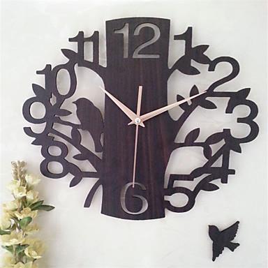 1 قطعة 14 بوصة الجوف خشبية ساعة الحائط غرفة كتم ساعة الحائط الديكور