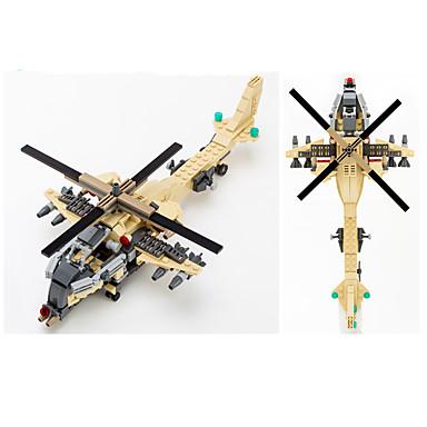 GUDI Byggeklosser 679pcs Tank / Luftkraft / Faiter profesjonelt nivå / Kul Helikopter Gutt Gave