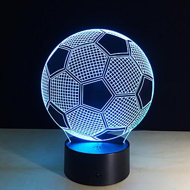 1 pieza Luz nocturna 3D Control remoto Visión nocturna Tamaño Pequeño Color variable Artístico LED Moderno/Contemporáneo