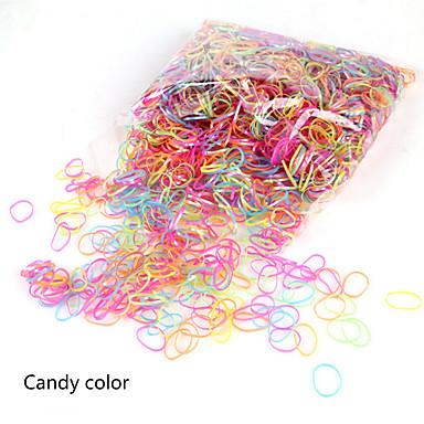 Gummibänder & Krawatten Haarschmuck Silikon Gummi Kunststoff Perücken Accessoires Mädchen 2000 Stück cm