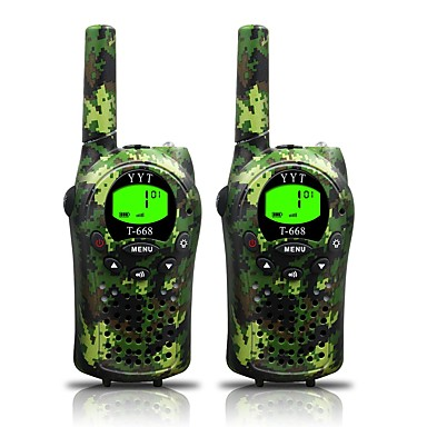 T668 462 迷彩 Håndholdt Programmeringskabel / Strømsparefunksjon / VOX 3-5 km 3-5 km 22 0.5 W Walkie Talkie Toveis radio
