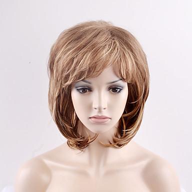 Syntetiske parykker Naturlige bølger tetthet Lokkløs Dame Blond Karneval Parykk Halloween parykk Naturlig parykk Kort Syntetisk hår