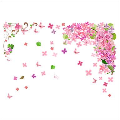Dyr Blomster Botanisk Veggklistremerker Fly vægklistermærker Dekorative Mur Klistermærker, Vinyl Hjem Dekor Veggoverføringsbilde Vegg