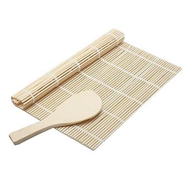1SET ادوات المطبخ بامبو المطبخ الإبداعية أداة أدوات السوشي رايس