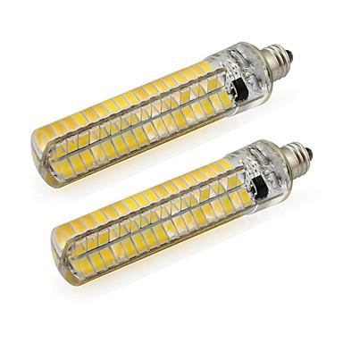 2pcs 5 W 400-500 lm E11 Tubelys Tube 136 LED perler SMD 5730 Varm hvit / Kjølig hvit 220-240 V / 110-120 V / 2 stk. / RoHs