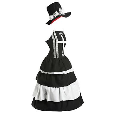 Esinlenen One Piece Perona Anime Cosplay Kostümleri Cosplay Takımları Elbiseler Eski Tip Kolsuz Elbise Şapka Uyumluluk Kadın's
