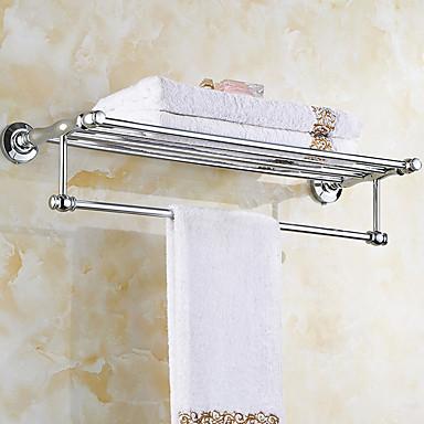 Hylle til badeværelset Moderne Messing / Rustfritt Stål 1 stk - Hotell bad Dobbel