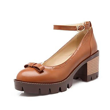 ราคาถูก รองเท้าส้นสูงผู้หญิง-รองเท้าสตรี-รองเท้าส้นสูง-แต่งตัว ไม่เป็นทางการ พรรคและเย็น-ความสะดวกสบาย-หนังเทียม-ส้นกริช-สีดำ สีเหลือง สีแดง