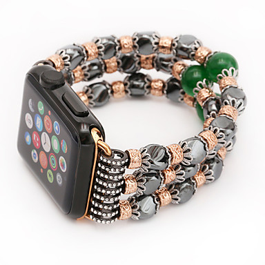 Jade agat perle perler rem håndlaget smykker for Apple Watch Iwatch 38mm 42mm