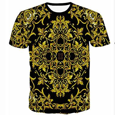 Cosplay Lolita ruhák Aranyozott Fekete Nyomtatott Rövid ujjú Póló Mert Férfi  Terylene Poliészter 37ca228ecd