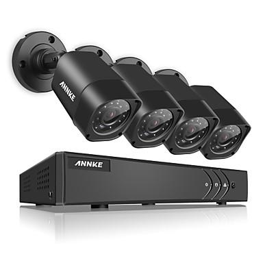 annke® 1080n tvi h.264 4ch dvr 1500tvl 720p in / outdoor ir sistema de câmera de segurança n41r