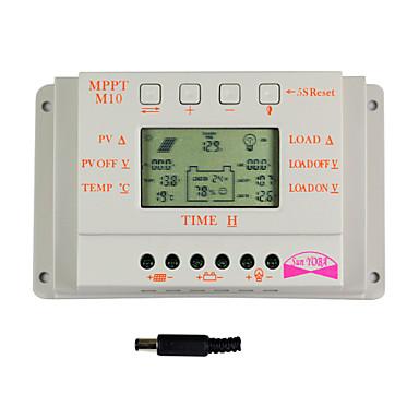 y-güneş 10a lcd ekran solar şarj kontrolörü 12v 24v otomatik geçiş m10