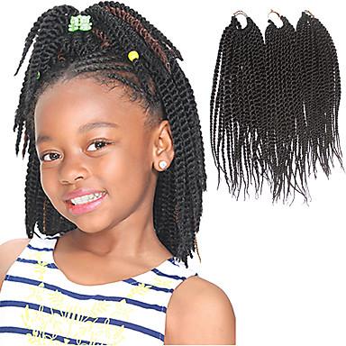 Senegal 100% kanekalon hår Hårforlængelse af menneskehår Drejede Fletninger Hårfletninger Daglig