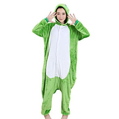 Взрослые Пижамы кигуруми Лягушка Цельные пижамы Velvet норки Зеленый  Косплей Для Муж. и жен. 3a0b118165066