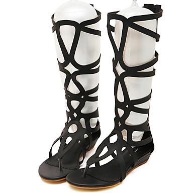 Gladiateur Eté Talon Chaussures Polyuréthane Bout Or Plat bottes Noir Carreaux Femme A Sandales 05613407 ouvert slouch xfwtTdqEw0