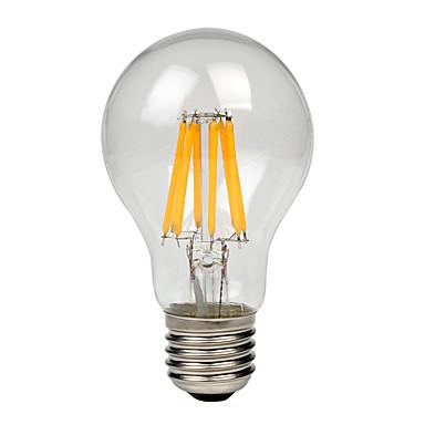 1pc 8W 700-750lm E27 LED-glødepærer A60(A19) 8 LED perler COB Varm hvit Kjølig hvit 220-240V