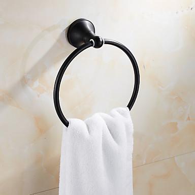قضيب المنشفة أنتيك نحاس 1 قطعة - حمام الفندق خاتم منشفة
