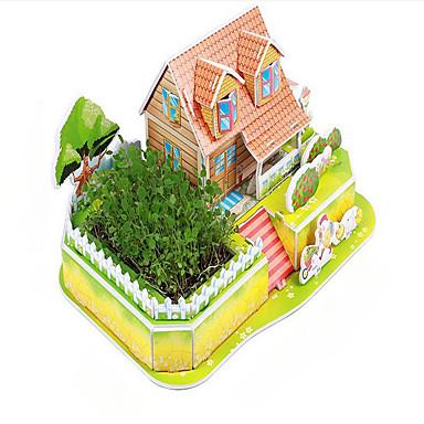 3D-puslespill Pedagogisk leke Hus Originale Papir Jul Bursdag Barnas Dag Gave