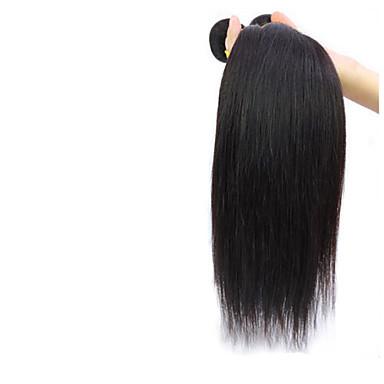 baratos Extensões de Cabelo Natural-3 pacotes Cabelo Brasileiro Liso 8A Cabelo Humano Ondulado Tramas de cabelo humano Extensões de cabelo humano / Reto
