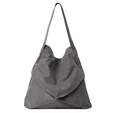 Mulheres Bolsas Tela de pintura Bolsa de Ombro Sólido Bege / Cinzento / Marron