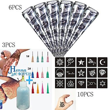 1 pcs Tubos de Henna Los tatuajes temporales Impermeable Artes de cuerpo Rostro / manos / brazo