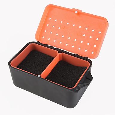 rød orm boks meitemark boks multi - funksjonell svamp meitemark boksen kult fiske levende agn boks med