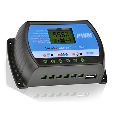 20A 12V/24V Solar Panel Charger Controller Battery Regulator With USB LCD PWM