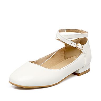 Chaussures Blanc Printemps Bas à Talons Talon Cuir Bout Femme Eté Noir Chaussures Boucle Verni 05609090 Habillé Rouge rond Mariage FOqw4xxd