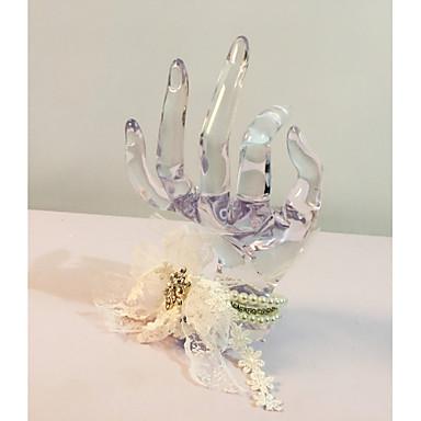Bouquets de Noiva Buquê de Pulso Casamento Festa / Noite Flôr Seca Renda Strass 2.36
