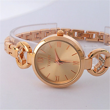 cheap Women's Watches-Women's Fashion Watch Quartz Rose Gold Plated Alloy Band Casual Silver Rose Gold