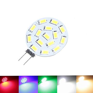 billige Elpærer-SENCART 1.5 W LED-spotpærer 100-150 lm G4 MR11 15 LED perler SMD 5630 Mulighet for demping Varm hvit Naturlig hvit Rød 12 V 24 V 9-30 V / 1 stk. / RoHs