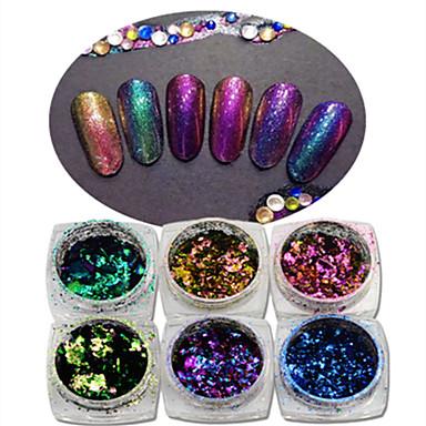 1pcs Nail Smykker / Glitter & Poudre Glitters / Bryllup / Mote Daglig