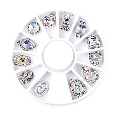 1SET Joyas de Uñas arte de uñas Manicura pedicura Diario Glitters / Metálico / Moda / Joyería de uñas