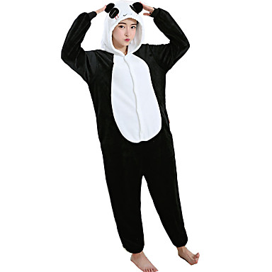 4d8f5cacd2 Adults  Kigurumi Pajamas Panda Onesie Pajamas Flannel Toison White Cosplay  For Men and Women Animal