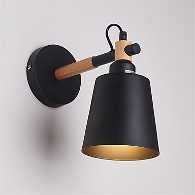 madera arte deco metal rústico aplique de pared salón comedor lámpara de pared pasillo negro blanco opcional