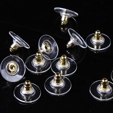 olcso Női ékszerek-Női Fülbevaló zárak hölgyek Alap Ezüstözött Arannyal bevont Fülbevaló Ékszerek Arany / Ezüst Kompatibilitás Napi Hétköznapi 50db