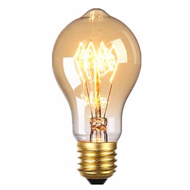 1pc 40W E26/E27 A60(A19) 2300 K Glødende Vintage Edison lyspære AC 220V AC 220-240V V