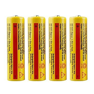 abordables Lampes & Lanternes de Camping-Lithium-ion 18650 batterie 5000 mAh 4pcs Rechargeable Urgence pour De travail Torche Lumière de vélo Camping / Randonnée Chasse Pêche